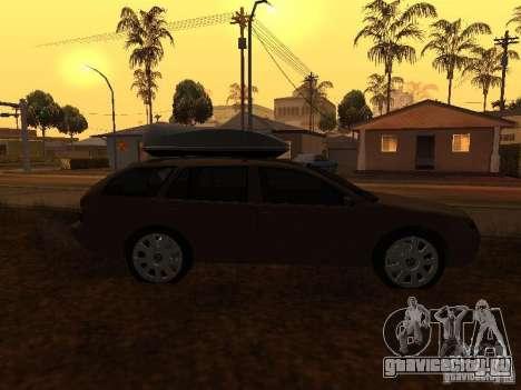Skoda Octavia для GTA San Andreas вид сбоку