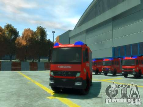Mercedes-Benz Atego Fire Departament для GTA 4 вид изнутри