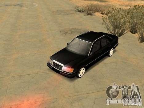 Mercedes-Benz E250 V1.0 для GTA San Andreas вид изнутри
