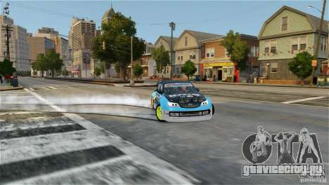 Subaru Impreza WRX STI Rallycross KMC Wheels для GTA 4 вид сзади слева