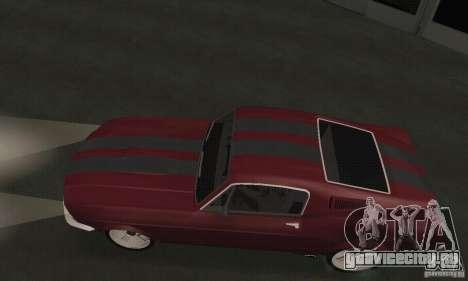Ford Mustang 1968 для GTA San Andreas вид сзади слева