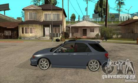 Subaru Impreza Universal для GTA San Andreas вид слева