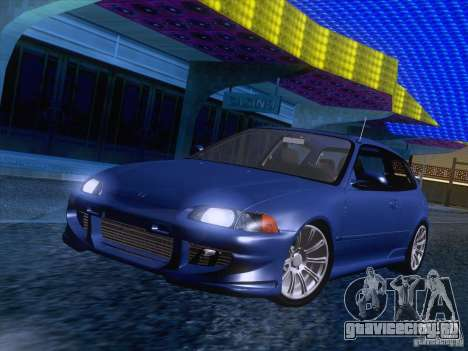 Honda Civic IV GTI для GTA San Andreas вид сзади слева