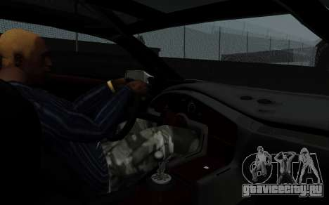 Lamborghini Diablo GTR TT Black Revel для GTA San Andreas вид сзади