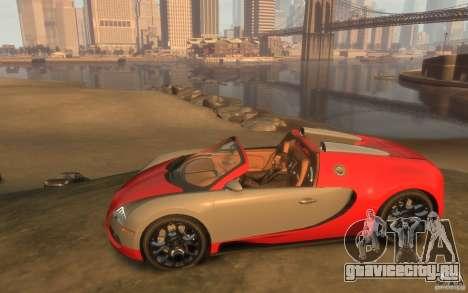 2009 Bugatti Veyron Grand Sport [EPM] для GTA 4 вид слева
