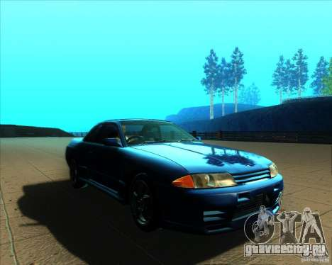 Nissan Skyline GT-R R32 1993 Tunable для GTA San Andreas вид сверху