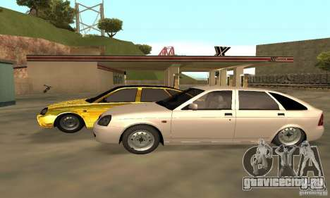 Lada Priora Gold для GTA San Andreas вид сзади