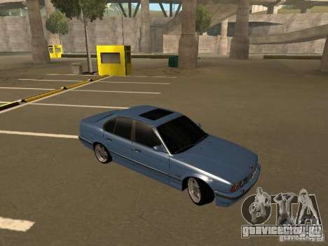 BMW E34 M5 для GTA San Andreas вид справа