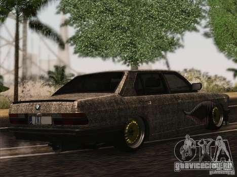 BMW E28 525E RatStyle для GTA San Andreas вид сзади