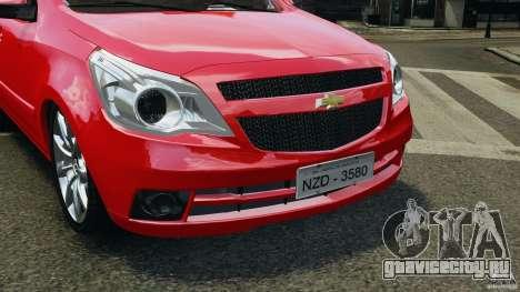 Chevrolet Agile для GTA 4 вид изнутри