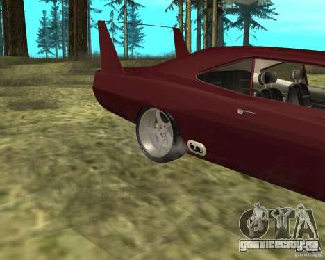 Dodge Charger Daytona для GTA San Andreas вид сзади