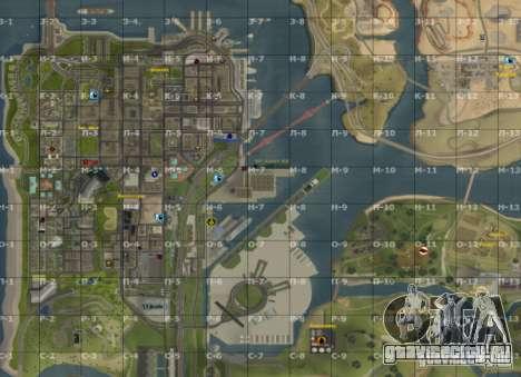 Карта San-Andreas с секторами Update v7 для GTA San Andreas