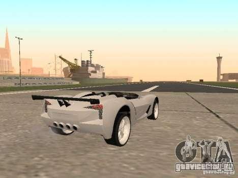 Chevrolet Corvette C7 Spyder для GTA San Andreas вид сзади слева