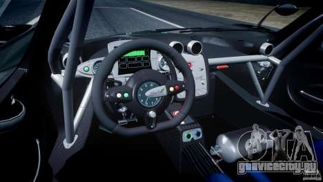 Pagani Zonda R 2009 для GTA 4 вид справа