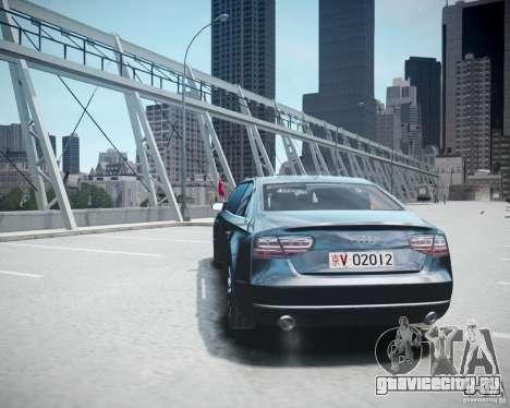 Audi A8 Limo для GTA 4 вид изнутри