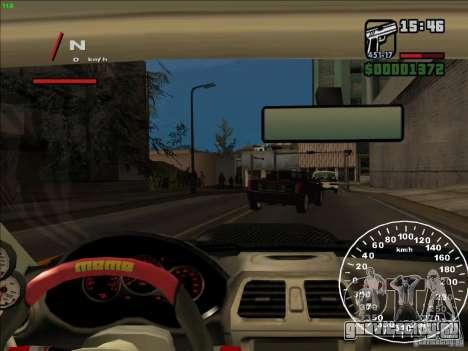 Subaru Impreza WRX Sti 2006 Elemental Attack для GTA San Andreas вид сбоку
