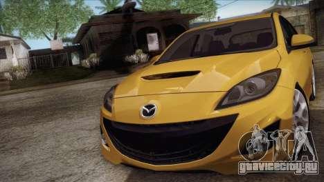 Mazda Mazdaspeed3 2010 для GTA San Andreas вид сзади слева