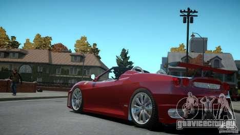 Ferrari F430 Spider для GTA 4 вид сзади