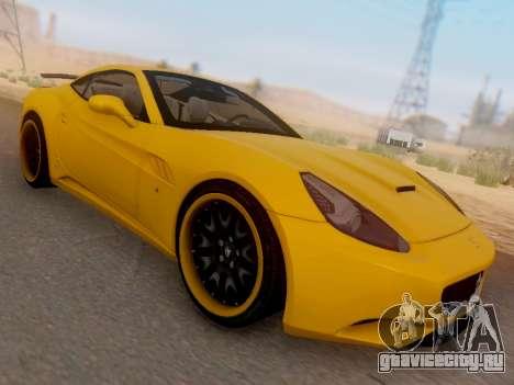 Ferrari California Hamann 2011 для GTA San Andreas вид сзади слева