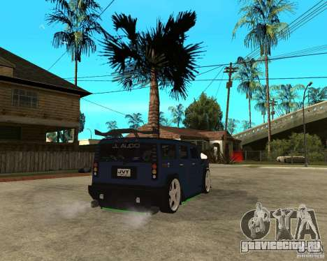 AMG H2 HUMMER Jvt HARD exclusive TUNING для GTA San Andreas вид сзади слева
