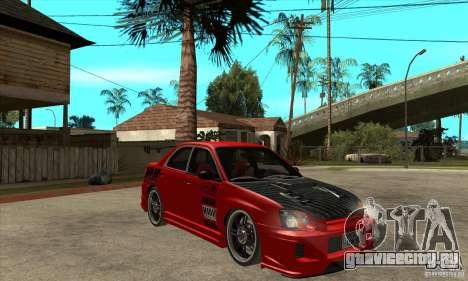 Subaru Impreza 2005 Tuned для GTA San Andreas вид сзади