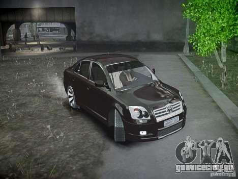 Toyota Avensis для GTA 4 вид сбоку