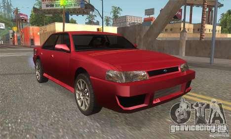 New Sultan HD для GTA San Andreas вид сзади