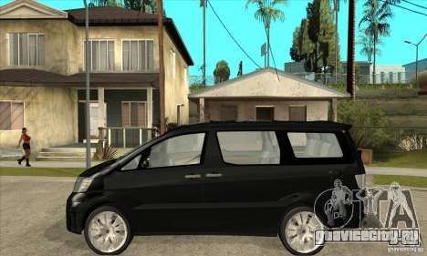 Toyota Alphard Hybrid для GTA San Andreas вид слева