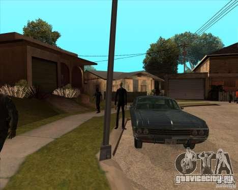 Слендер в темных очках для GTA San Andreas третий скриншот