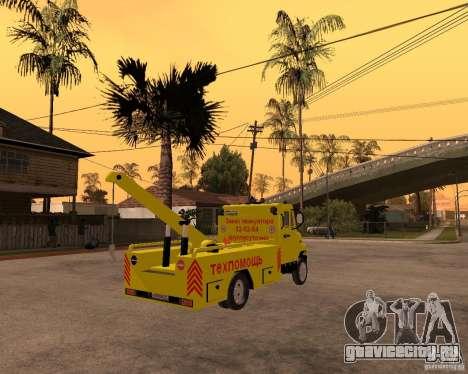 ЗиЛ 5301 Бычок эвакуатор для GTA San Andreas вид сзади слева