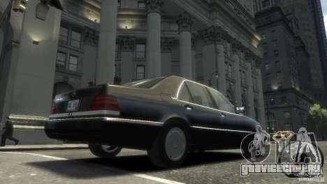 Mercedes-Benz 600SEL wheel2 non-tinted для GTA 4 вид сзади слева