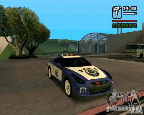 Nissan GTR35 Police Undercover для GTA San Andreas