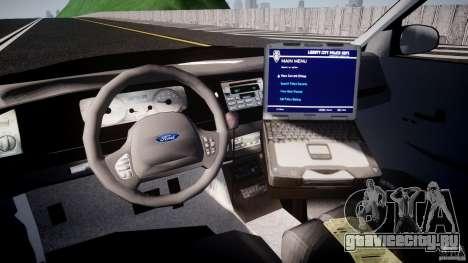Ford Crown Victoria Raccoon City Police Car для GTA 4 вид справа