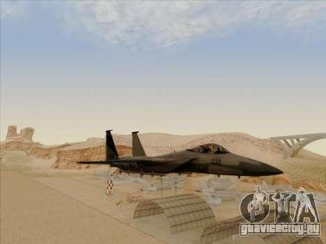 F-15C для GTA San Andreas вид сзади