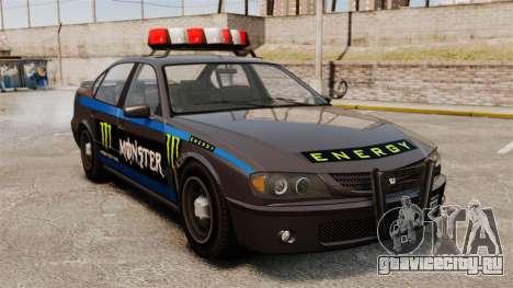 Полиция Monster Energy для GTA 4 вид слева