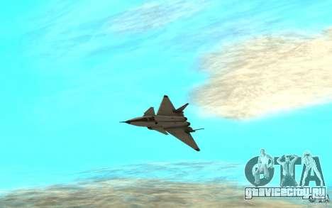 МиГ 1.44 для GTA San Andreas вид слева