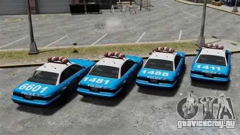 Vapid Police Cruiser ELS для GTA 4 вид сзади