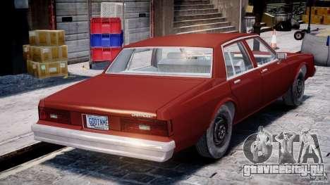 Chevrolet Impala 1983 для GTA 4 вид сверху