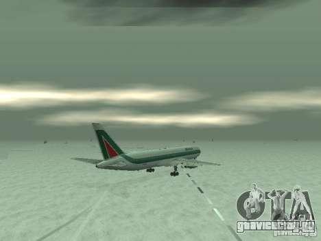 Boeing 767-300 Alitalia для GTA San Andreas вид сзади