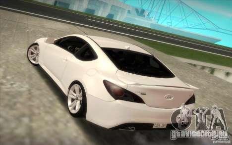 Hyundai Genesis 3.8 Coupe для GTA San Andreas вид слева