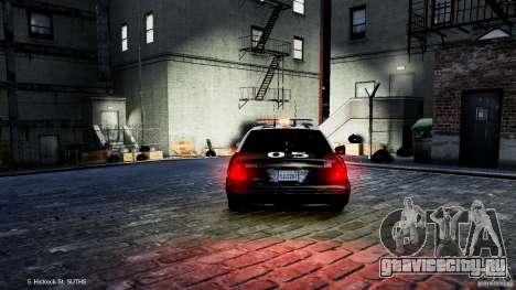 Ford Crown Victoria CVPI-K9 V6.9A-LAPD-ELS для GTA 4 вид сзади