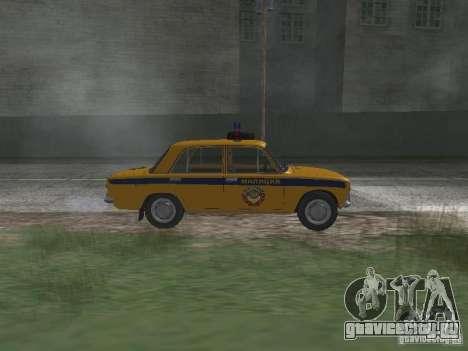 ВАЗ 21016 ГАИ для GTA San Andreas вид слева