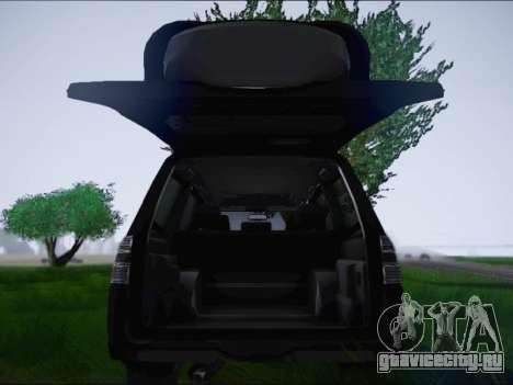 Mitsubishi Pajero 2012 для GTA San Andreas вид сзади