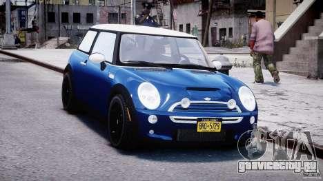 Mini Cooper S 2003 v1.2 для GTA 4 вид сзади
