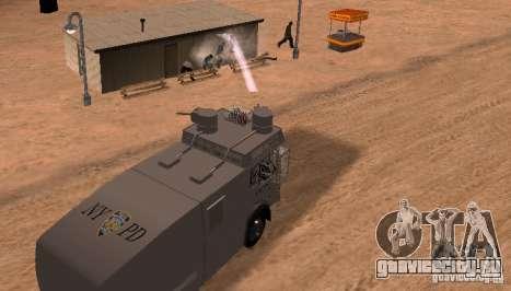 Полицейский водомет Rosenbauer v2 для GTA San Andreas вид сзади