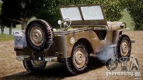 Jeep Willys [Final] для GTA 4 вид сверху
