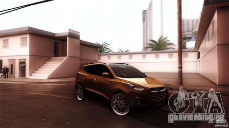 Hyundai iX35 Edit RC3D для GTA San Andreas вид сзади слева