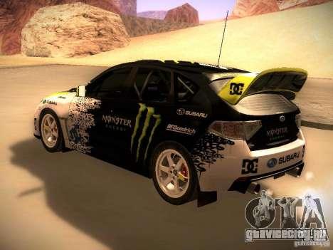 Subaru Impreza Gymkhana для GTA San Andreas вид справа