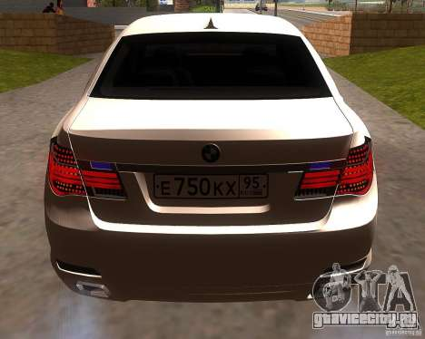 BMW 750Li 2010 для GTA San Andreas вид справа
