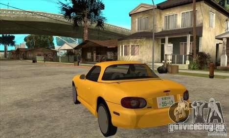 Mazda MX-5 JDM Coupe для GTA San Andreas вид сзади слева